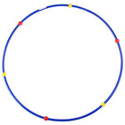 Gymnastic Hoop with massage balls, steel, d=90 cm, 900 g, MIX color