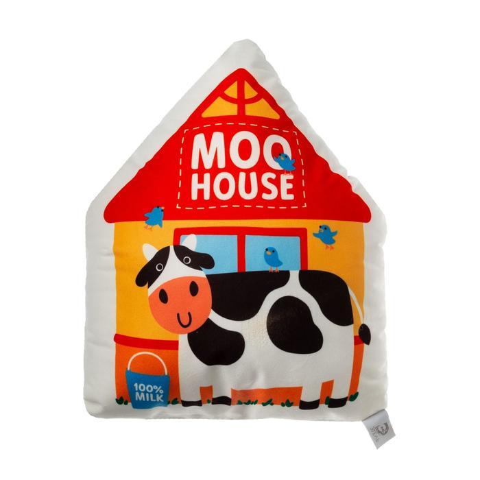 "Подушка декоративная Этель ""Moo house"", 42х36 см, велюр, 100% п/э - фото 535883"