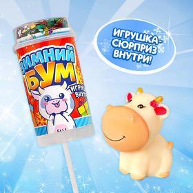 Хлопушка на палочке «Зимний бум», коровка