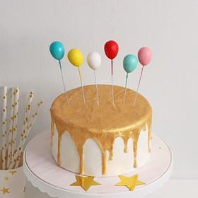 Набор топперов для торта «Шарики», 6 шт, цвет МИКС