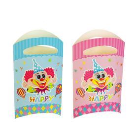 Пакет подарочный «Клоун», 14х24 см, набор 6 шт., цвета МИКС