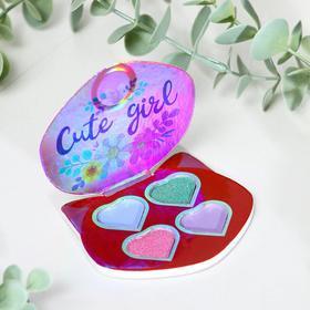 Тени для девочки Cute girl 4 цвета по 1,3 гр