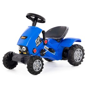 Педальная машина для детей Turbo-2, цвет синий