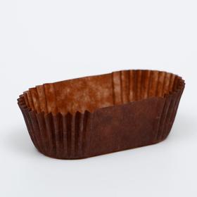 Тарталетка, коричневая, форма овал, 2,5 х 5,5 х 2 см
