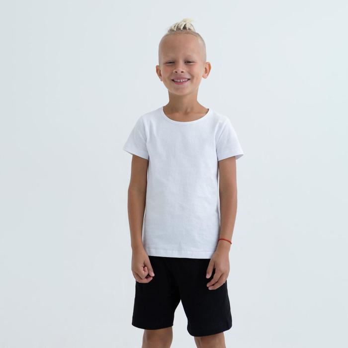 Футболка для мальчика цвет белый, рост 128 - фото 1946574