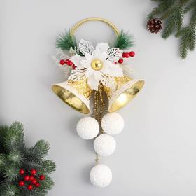 """The decoration of the Christmas """"Bells of winter"""" white balls 25х60 cm"""