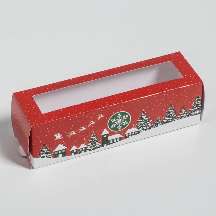 Коробка складная «Новый Год» 18 х 5,5 х 5,5 см.