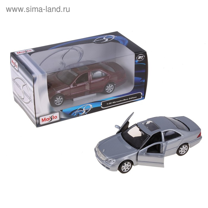 Модель машины Mercedes-Benz S-Class, масштаб 1:26, МИКС