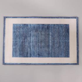 Коврик «По домашнему» , 50×80 см, цвет синий - фото 4652835
