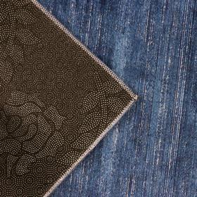 Коврик «По домашнему» , 50×80 см, цвет синий - фото 4652836