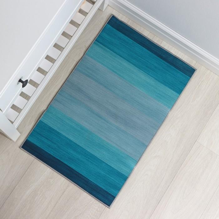 """Mat 50 × 80 cm """"azure"""" color blue"""