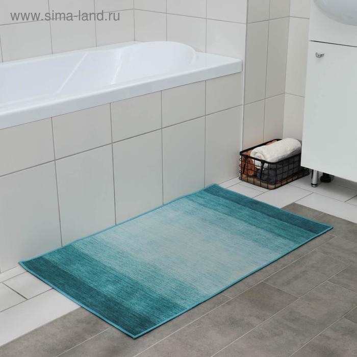 """Mat 60x100 cm """"azure"""" color blue"""