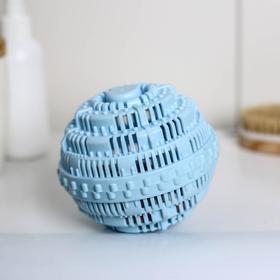 Турмалиновый шар для стирки белья Доляна, 10×10 см, цвет голубой