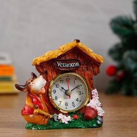"""Часы настольные """"Символ года"""", d=5.5 см, дискретный ход, микс"""