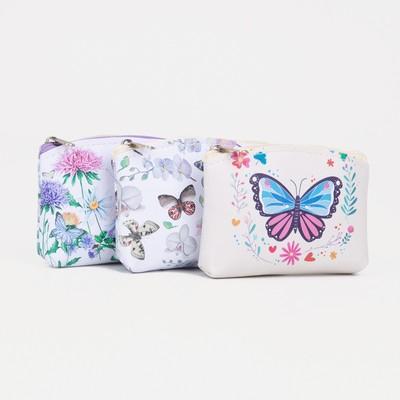 Purse children 13-01-13 Flowers, 9*2*7, otd zip, mix