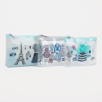 Purse children Fashion 13-01-13, 9*2*7, otd zipper, transparent, mixed