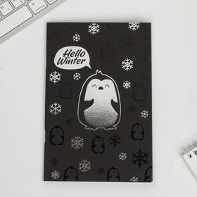 Тетрадь с чёрными листами Hello winter, 32 листа