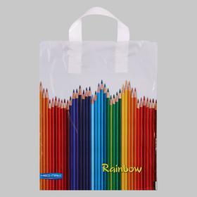 """Package """"Pencils"""", plastic with loop handle, 28x34 cm, 60 µm"""