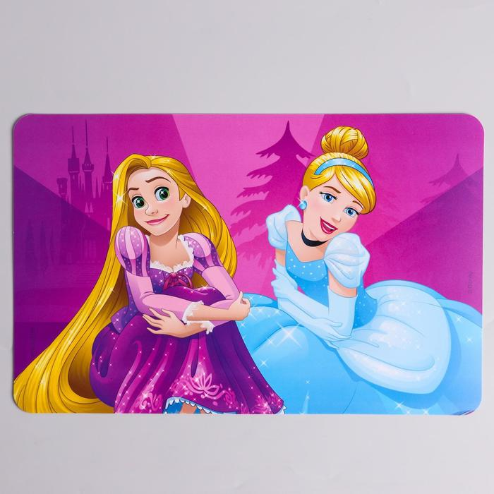 """Коврик для лепки """"Принцессы"""", размер 19*29,7 см"""