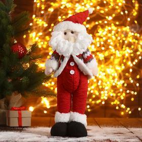 """Мягкая игрушка """"Дед Мороз-пузатик"""" 12х40 см, красный"""