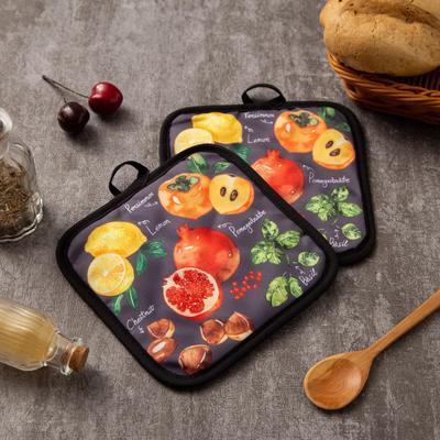 """Kuh. set 2 PR Share the """"Fruits"""", prikh. 17*17 cm - 2 PCs,100% p/e"""