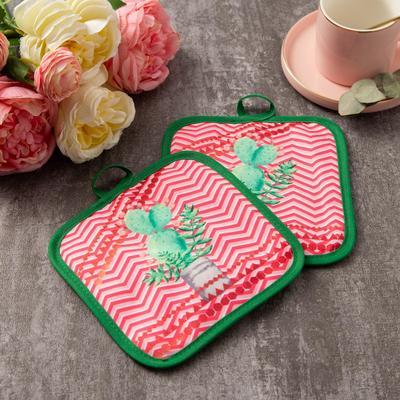 "Kuh. set of 2 St. Share ""Cactus""color.pink, com. 17*17 cm - 2 PCs,100% p/e"