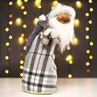 """Interior doll """"Santa Claus in plaid coat"""" 44х20х20 cm"""