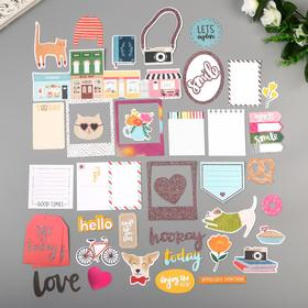 A set of die cuts with glitter Amy Tangerine