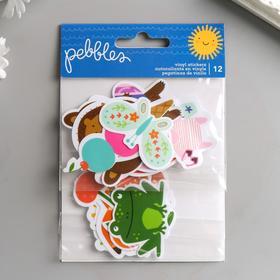 """Виниловые стикеры Pebbles """"Sun and Fun"""" 12 шт"""