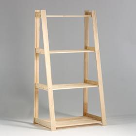 """Стеллаж деревянный усиленный """"Горка"""" 150х84х48см, 4 полки"""
