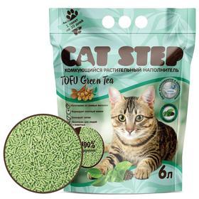 Наполнитель для кошачьих туалетов Cat Step Tofu Green Tea 6L, растительный комкующийся