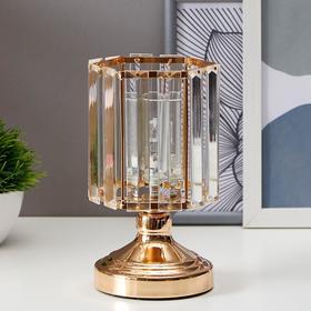 Аромасветильник с выключателем 16019/1 G4 20Вт золото 11х11х19,2 см Ош