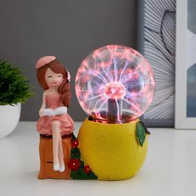 """Плазменный шар """"Девочка лимончик"""" 14х9х16 см"""