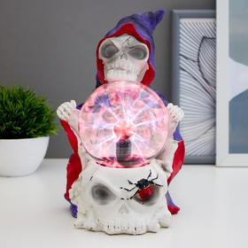 "Плазменный шар ""Скелет и паук"" 14,5х15,5х23,5 см"