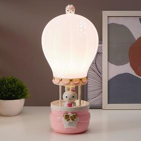 Лампа настольная 16085/1 E14 5Вт розовый 14,5х14,5х36 см