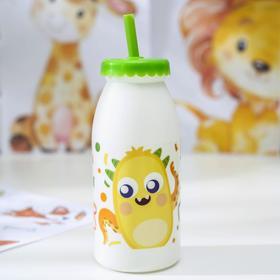 Бутылка с трубочкой Qlux «Фрутис», 6,5×6,5×19,5см, цвет МИКС