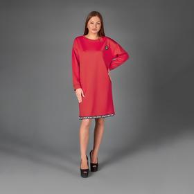 Платье женское, цвет красный, размер 54