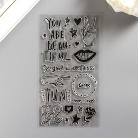 "Набор акриловых штампов Crate Paper ""All Heart"" 22 шт"