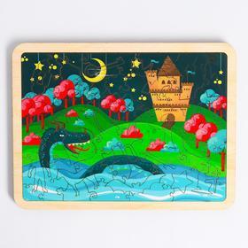 Пазл в рамке «Замок на берегу» 18×24 см