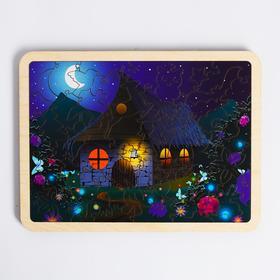 Пазл в рамке «Хижина в лесу» 18×24 см