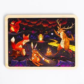 Пазл в рамке «Лесные животные» 18×24 см