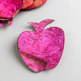"""Набор декоративных элементов из коры дерева  """"Яблоко"""", 7 см, 8 шт, розовый"""
