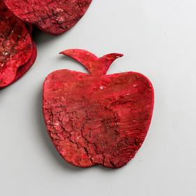 """Набор декоративных элементов из коры дерева  """"Яблоко"""", 7 см, 8 шт, красный"""