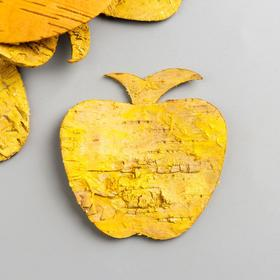 """Набор декоративных элементов из коры дерева  """"Яблоко"""", 7 см, 8 шт, желтый"""