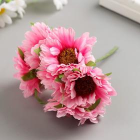 Набор декоративных цветов 6 см, 6 шт, розовый