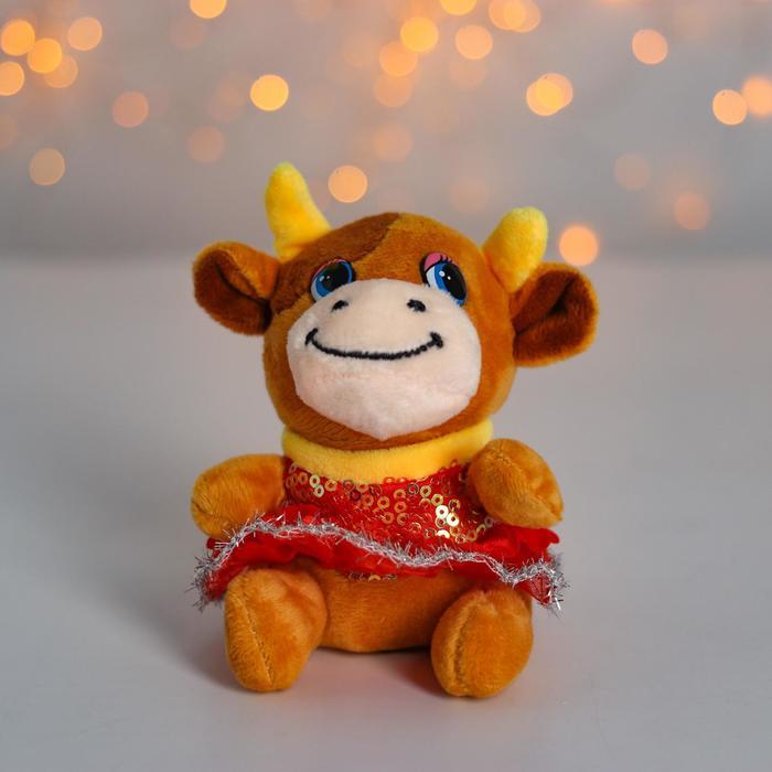 Мягкая игрушка «Коровка в юбке», на присоске, цвета МИКС