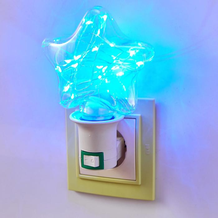 "Ночник ""Звезда"" LED от сети 4х10,5х13,5 см - фото 1872111"