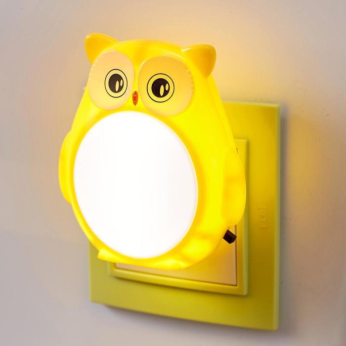 "Ночник ""Совенок"" LED от сети МИКС 4,5х8х8,5 см - фото 114132"