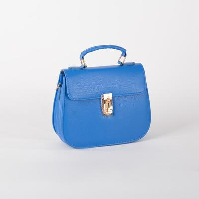 Women's bag L-599, 22*8*25, otd with pereg on the valve, blue