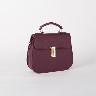 Women's bag L-599, 22*8*25, otd with pereg on the valve, maroon